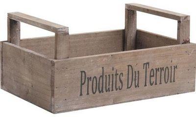 Aubry-Gaspard - Caisse de rangement-Aubry-Gaspard-Caisse r�colte Produits du terroir