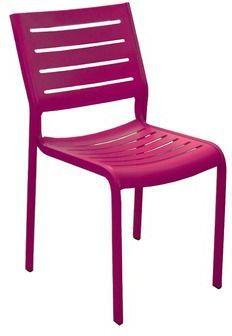 PROLOISIRS - Chaise de jardin-PROLOISIRS-Chaise de jardin design Belhara (Prune)