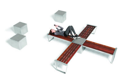 Maglin Site Furniture - Banc urbain-Maglin Site Furniture-LEXICON