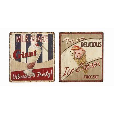 Interior's - Tableau d�coratif-Interior's-Enseigne publicit� Milk/Ice cream