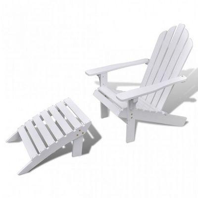 WHITE LABEL - Fauteuil de jardin-WHITE LABEL-Chaise à bascule jardin avec repose pieds