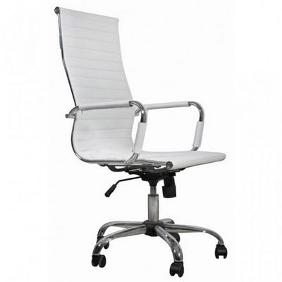 WHITE LABEL - Fauteuil de bureau-WHITE LABEL-Fauteuil de bureau noir et chromé