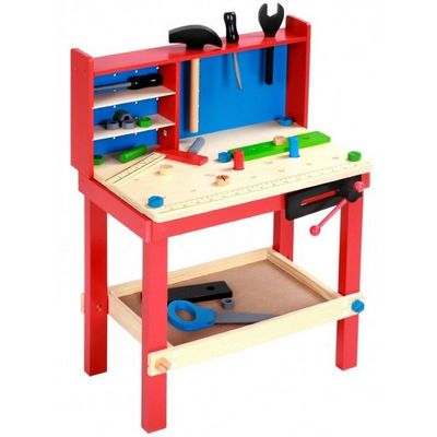 WHITE LABEL - Jeu d'éveil-WHITE LABEL-Établis pour enfants atelier avec outils et accessoires inclus