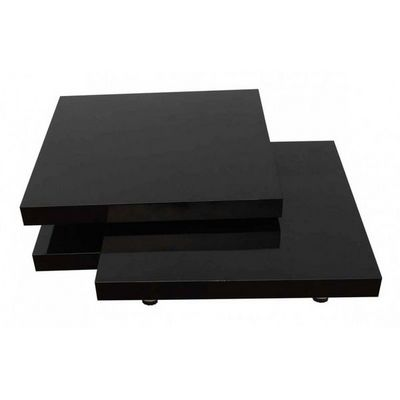 WHITE LABEL - Table basse forme originale-WHITE LABEL-Table basse design noir bois