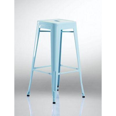 WHITE LABEL - Tabouret de bar-WHITE LABEL-Lot de 2 tabourets de bar factory bleu