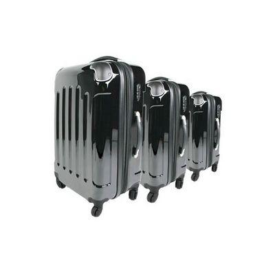 WHITE LABEL - Valise à roulettes-WHITE LABEL-Lot de 3 valises bagage noir