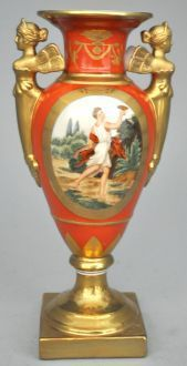 Demeure et Jardin - Vase décoratif-Demeure et Jardin-Vase balustre orange empire