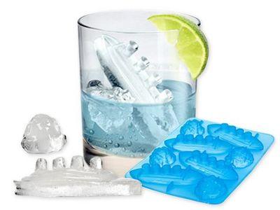WHITE LABEL - Bac à glaçons-WHITE LABEL-Bac 4 glacons titanic et icebergs ou gateau chocol