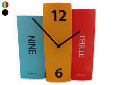 WHITE LABEL - Horloge � poser-WHITE LABEL-Horloge 3 livres d�corative et originale noir deco
