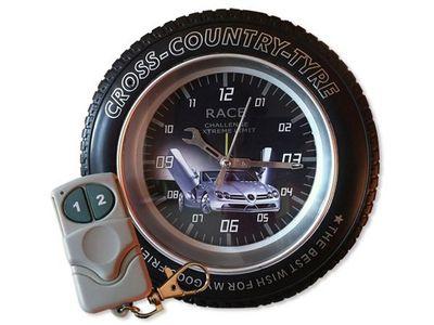 WHITE LABEL - Camera de surveillance-WHITE LABEL-Réveil espion roue cross 4Go commandé à distance c