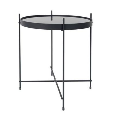 Mathi Design - Bout de canapé-Mathi Design-Table d'appoint grise