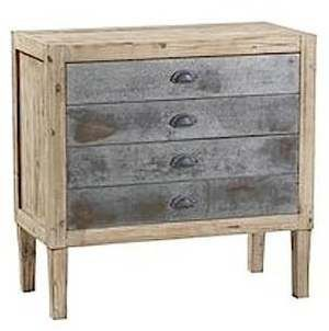 Mathi Design - Commode-Mathi Design-Commode 4 tiroirs bois et zinc