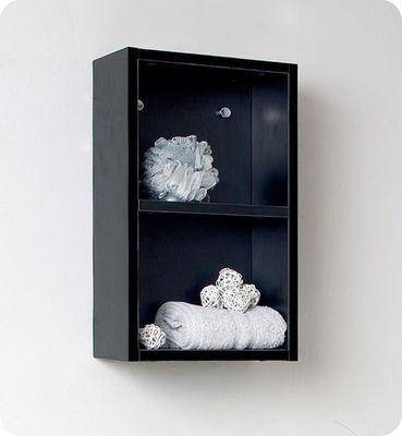 UsiRama.com - Armoire de salle de bains-UsiRama.com-Colonne de salle de bain 50cm noir