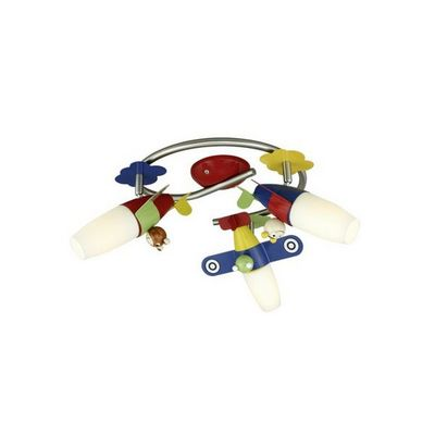 Eglo - Luminaire enfant-Eglo-Plafonnier enfant 3 spots Siro LED