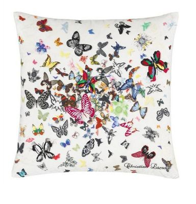 Christian Lacroix - Coussin carr�-Christian Lacroix-BUTTERFLY PARADE OPALIN