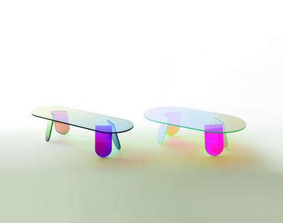 GLAS ITALIA - Table basse ovale-GLAS ITALIA