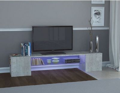 WHITE LABEL - Meuble tv hi fi-WHITE LABEL-Meuble design TV MODERN B effet béton.