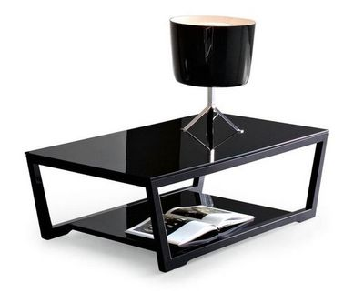 Calligaris - Table basse rectangulaire-Calligaris-Table basse ELEMENT de CALLIGARIS en verre