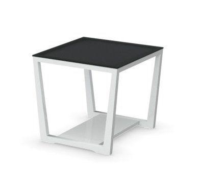 WHITE LABEL - Table basse carrée-WHITE LABEL-Table basse ELEMENT de CALLIGARIS blanche avec pla