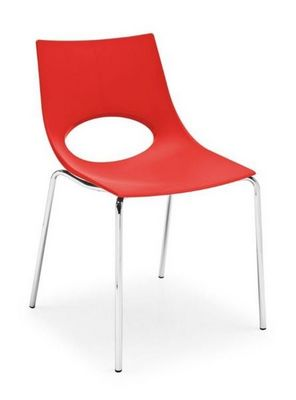 Calligaris - Chaise-Calligaris-Chaise CONGRESS de CALLIGARIS rouge