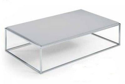 WHITE LABEL - Table basse rectangulaire-WHITE LABEL-Table basse MIMI rectangle gris