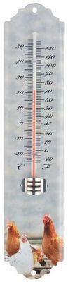 Esschert Design - Thermomètre-Esschert Design-Thermomètre mural Poule Poule
