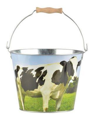 Esschert Design - Seau-Esschert Design-Seau Vache en zinc et bois Vache
