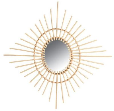 Aubry-Gaspard - Miroir-Aubry-Gaspard-Miroir carré en rotin