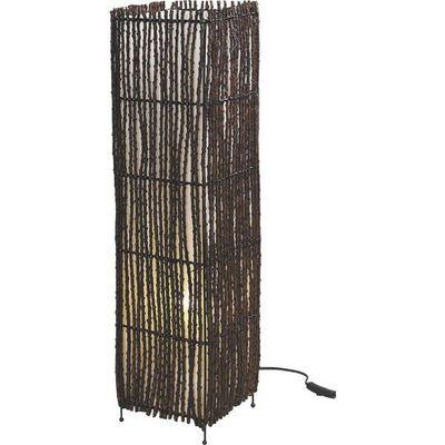 Aubry-Gaspard - Lampe à poser-Aubry-Gaspard-Lampe carrée en coco