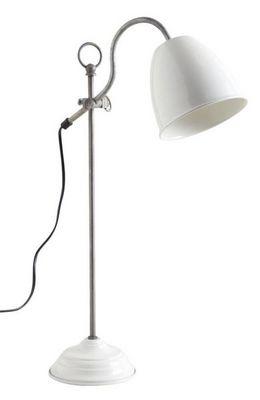 Aubry-Gaspard - Lampe à poser-Aubry-Gaspard-Lampe de bureau en métal laqué ivoire
