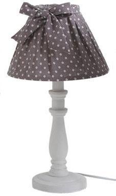 Aubry-Gaspard - Lampe à poser-Aubry-Gaspard-Lampe de chevet Shabby Chic 40cm Chocolat
