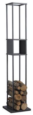 Aubry-Gaspard - Porte-buches-Aubry-Gaspard-Range-bûches vertical en métal gris