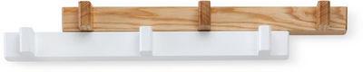 Umbra - Patère-Umbra-Porte-manteaux extensible Switch Blanc/Naturel