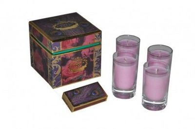 Demeure et Jardin - Bougie parfumée-Demeure et Jardin-Coffret de 4 bougies Antique Rose
