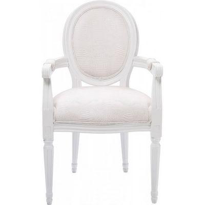 Kare Design - Chaise-Kare Design-Chaise avec accoudoirs Louis Croco blanc