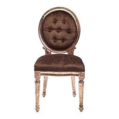 Kare Design - Chaise-Kare Design-Chaise Louis marron cuivré