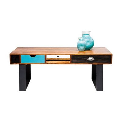 Kare Design - Table basse rectangulaire-Kare Design-Table Basse en bois Babalou 120x60 cm