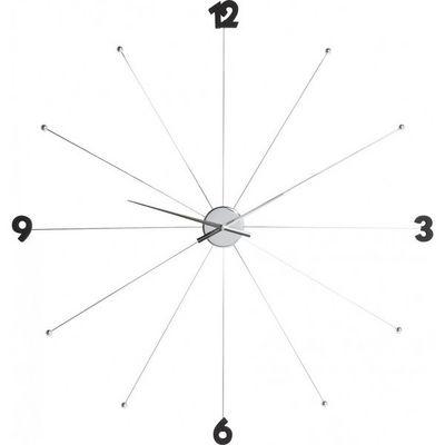 Kare Design - Horloge murale-Kare Design-Horloge Umbrella Chrome et Noir