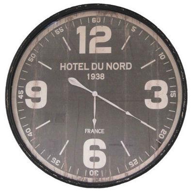 Antic Line Creations - Horloge murale-Antic Line Creations-Pendule murale Hôtel du Nord 89cm