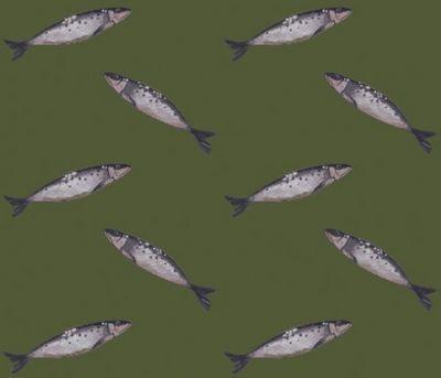 CAMILLE DEPRET - Tissu d'ameublement-CAMILLE DEPRET-Sardines