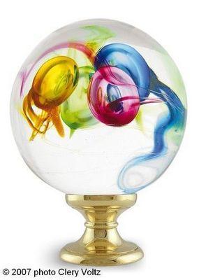 Les Verreries De Brehat - Boule d'escalier-Les Verreries De Brehat-Multicolore aléatoire