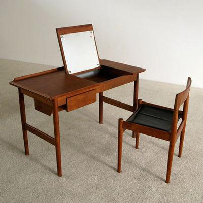 FURNITURE-LOVE.COM - Coiffeuse-FURNITURE-LOVE.COM-Arne Vodder teak Make Up table Sibast Denmark