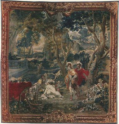 Manufacture Robert Four - Tapisserie des Gobelins-Manufacture Robert Four-Tenture dite des scènes d'Opéra
