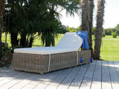 Dream Garden - Bain de soleil-Dream Garden-Bain de soleil inclinable nattu en pin et rotin ku