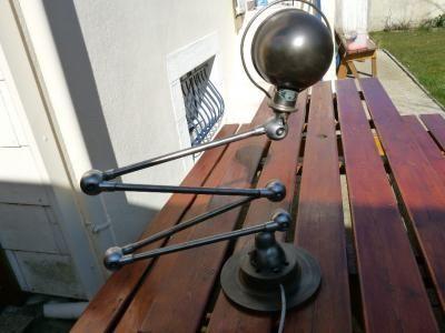 La Timonerie Antiquités marine - Lampe d'architecte-La Timonerie Antiquités marine-lampe jielde 4 bras