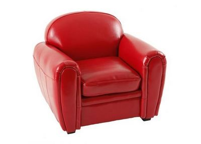 Miliboo - Fauteuil Enfant-Miliboo-Baby fauteuil Club rouge