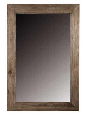 ZAGO - Miroir-ZAGO-Miroir rectangulaire en teck teinte