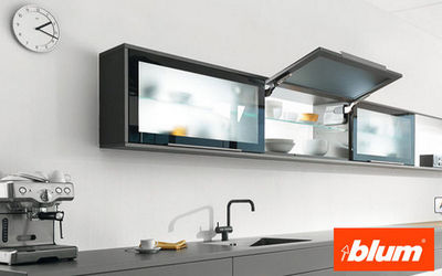 Blum - Porte de meuble de cuisine relevable-Blum-AVENTOS HK pour portes relevantes pivotantes