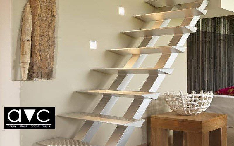 Avc Straight staircase Stairs and ladders House Equipment Entrance | Design Contemporary