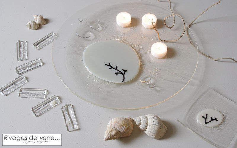 RIVAGES DE VERRE Serving plate Plates Crockery Dining room | Design Contemporary